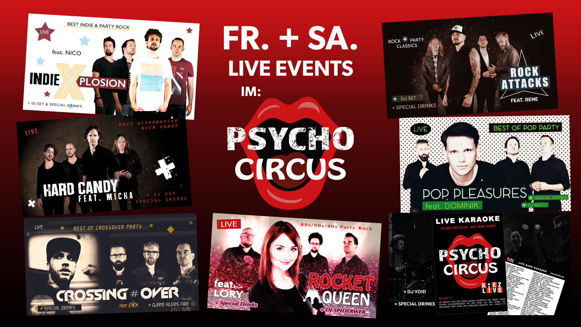 Flyer Psycho Circus Events